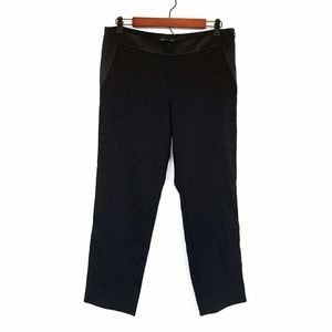 Banana Republic Black Jacquard Satin Ankle Pants